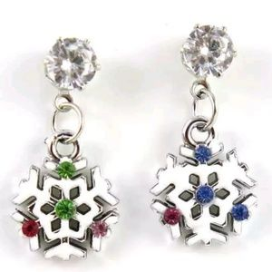 Jewelry - DIVA LUXURY FASHION SNOWFLAKE EARRINGS NEW